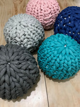 Load image into Gallery viewer, Pattern: Chunky knit pouf - digital download