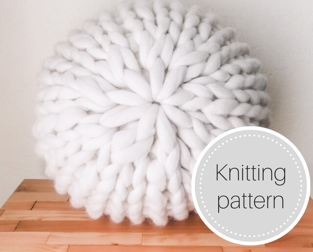 Chunky knit pouf pattern - digital download