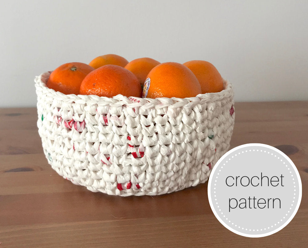 Plastic bag plarn crochet pattern - digital download