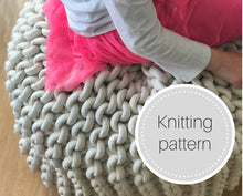 Load image into Gallery viewer, Pattern: Giant knit pouf - digital download