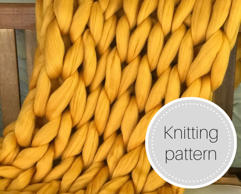 Giant knit blanket pattern - digital download