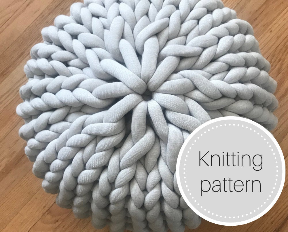 Pattern: Chunky knit pouf - digital download