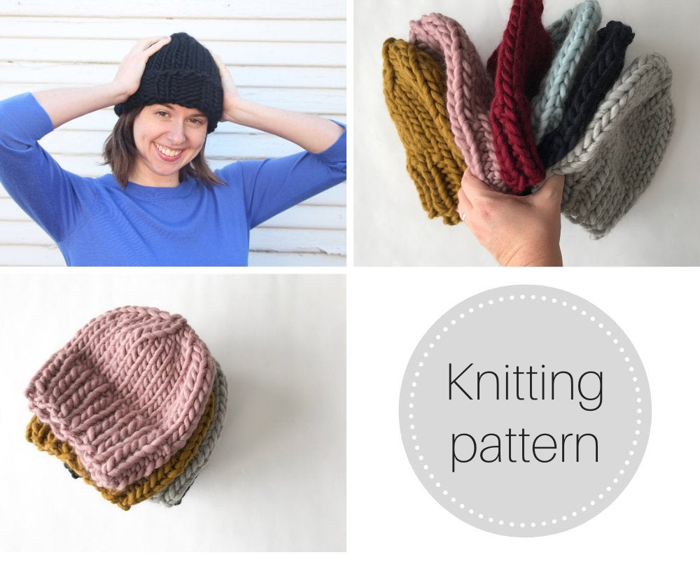 Pattern: Knit beanies 3 ways - digital download