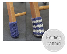 Load image into Gallery viewer, Pattern: Chair socks - knit and crochet versions - digital download