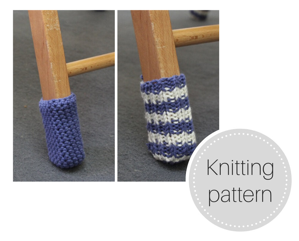 Pattern: Chair socks - knit and crochet versions - digital download