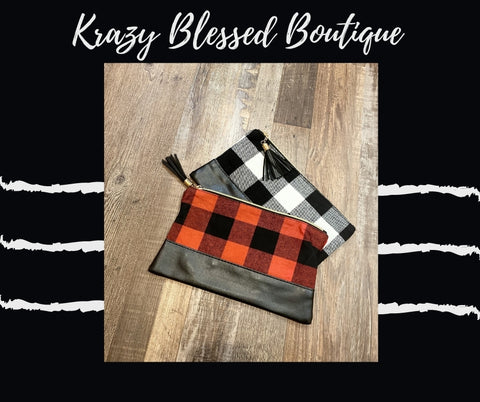 Buffalo Plaid Make Up Bag
