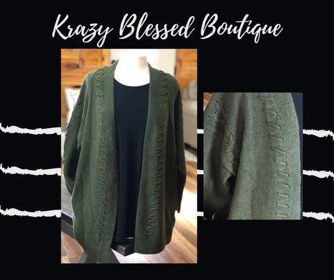 Oh So Olive Cardigan