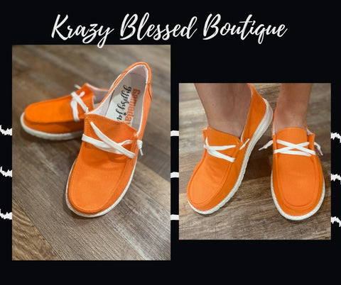 Orange Gypsy Jazz Shoes