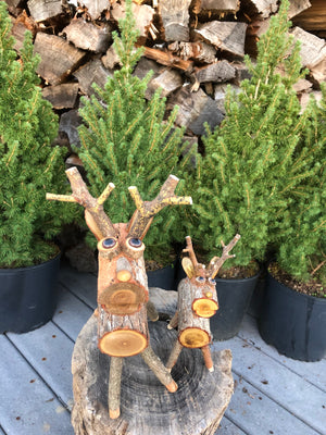 Open image in slideshow, Handcrafted Wooden (Sassafras) Reindeer