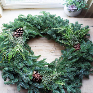 Open image in slideshow, Noble Fir Wreath