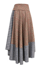 Load image into Gallery viewer, Asymmetric Wrap Wool Skirt
