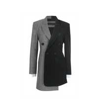Load image into Gallery viewer, Cropped Back Asymmetric Blazer