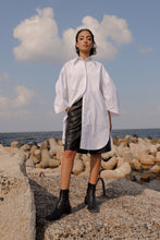 Load image into Gallery viewer, Pleated Sleeves Shirt Dress