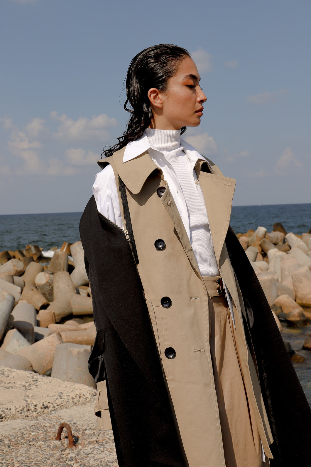 Deconstructed Trench Vest