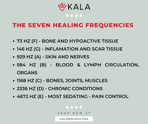 red light therapy frequencies