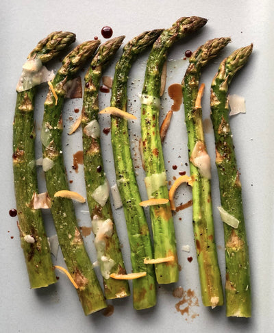 Roasted Asparagus with Preserved Lemon and Balsamic
