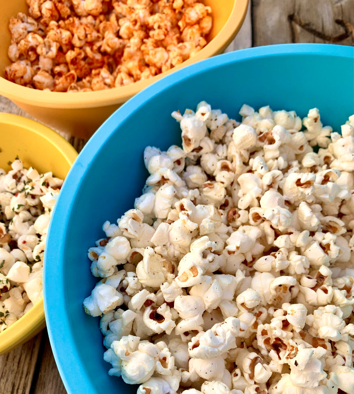 Stovetop Popcorn w/ EVOO & Spice Combos