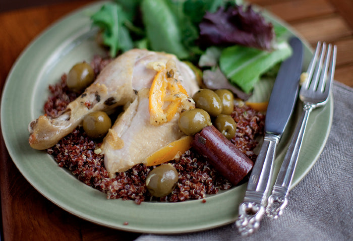 Moroccan Chicken with Green Olives & Preserved Lemon