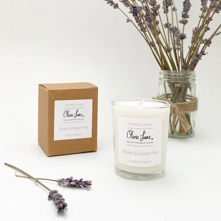9CL Candle - Violet and Sweet Pea