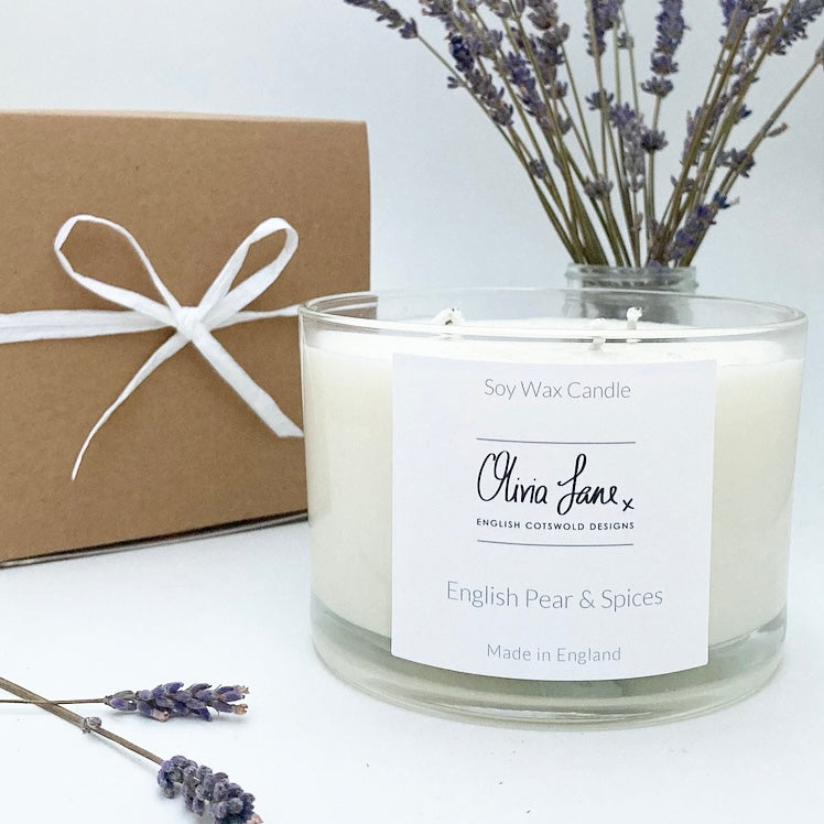 3 Wick Jumbo Candle - English Pear and Spices