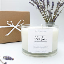 Load image into Gallery viewer, 3 Wick Jumbo Candle - Violet and Sweet Pea