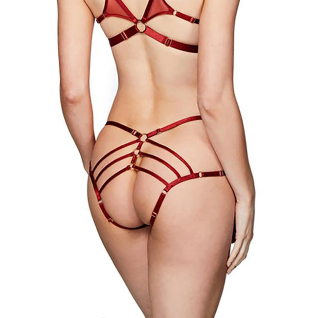 Art Deco Ouvert Strap Brief