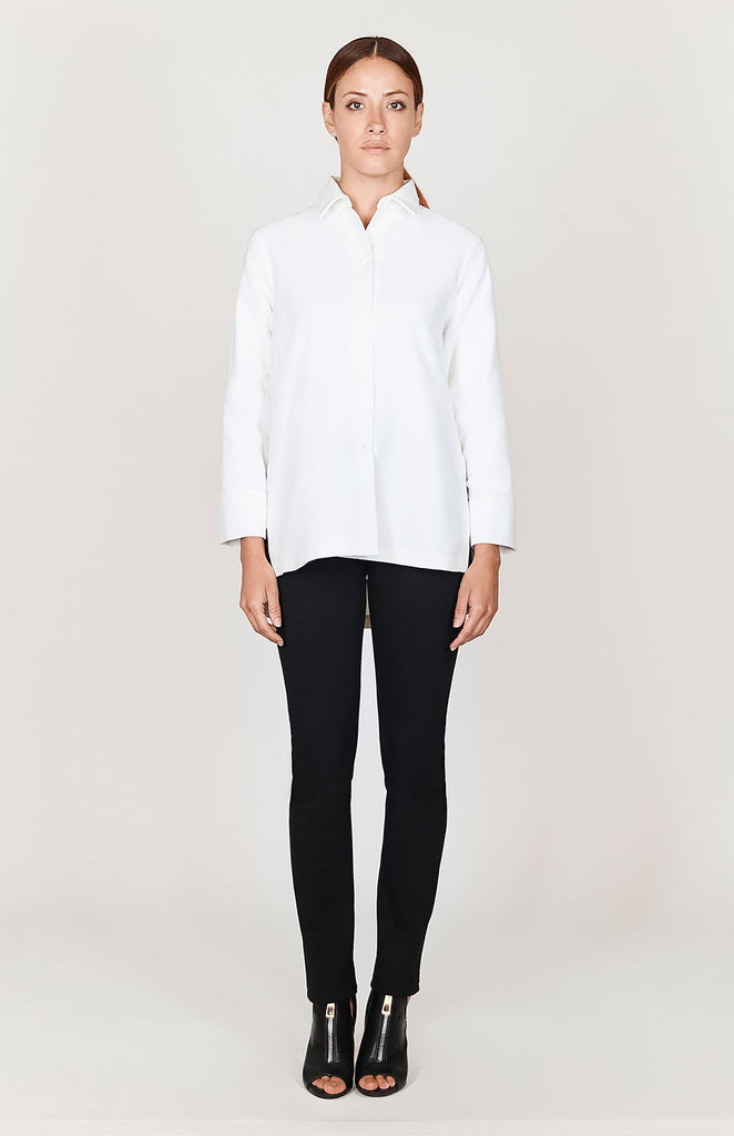 Textured Cotton Side Tab Shirt