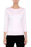 Silk Knit Tee- Blush