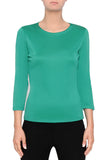 Silk Knit Tee-Jade