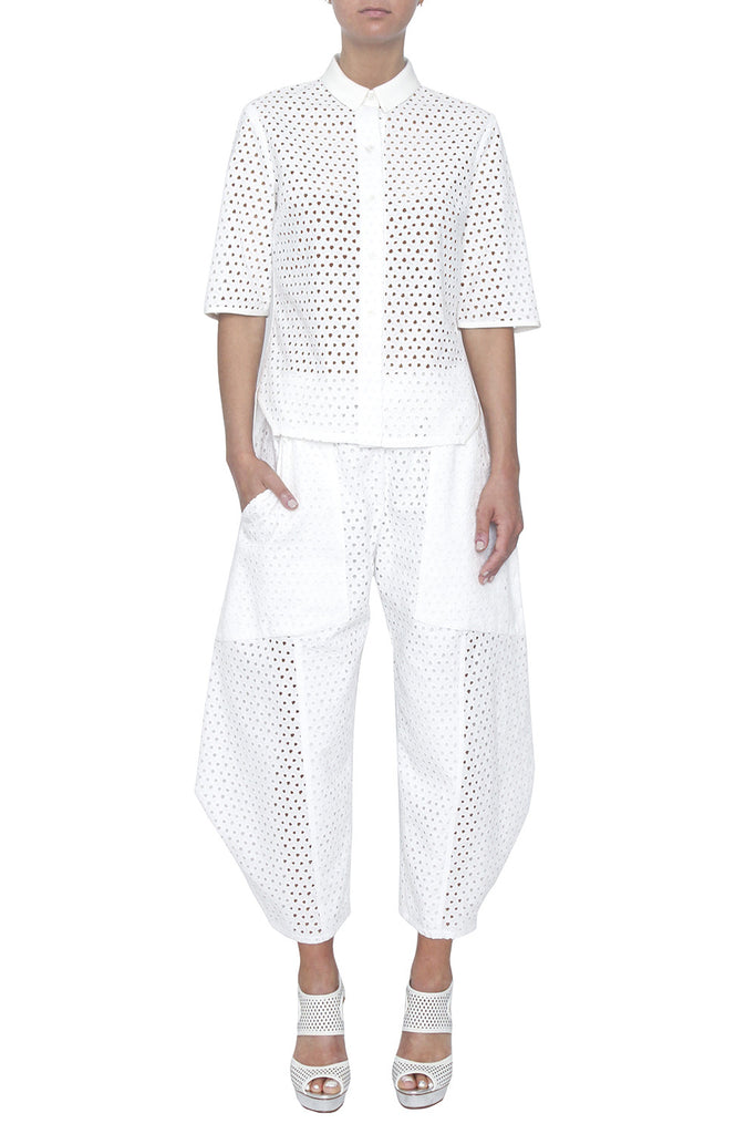 Cropped Origami Pant