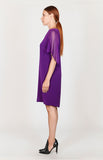 Open Short Chiffon Drape Sleeve Dress