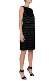Stretch Textured Stripe Dress