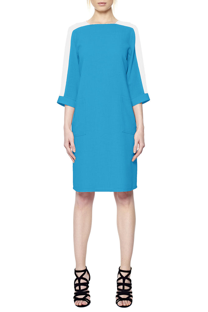 A-Line Dress with Lined Patch Pockets