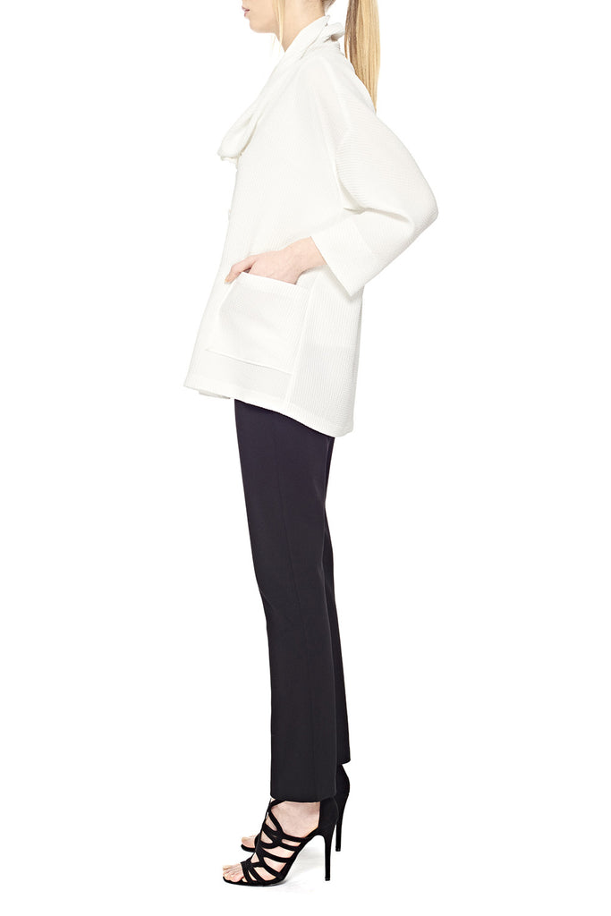 Drape neck easy jacket
