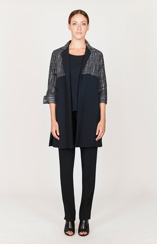 Button down jacket w/ contrast