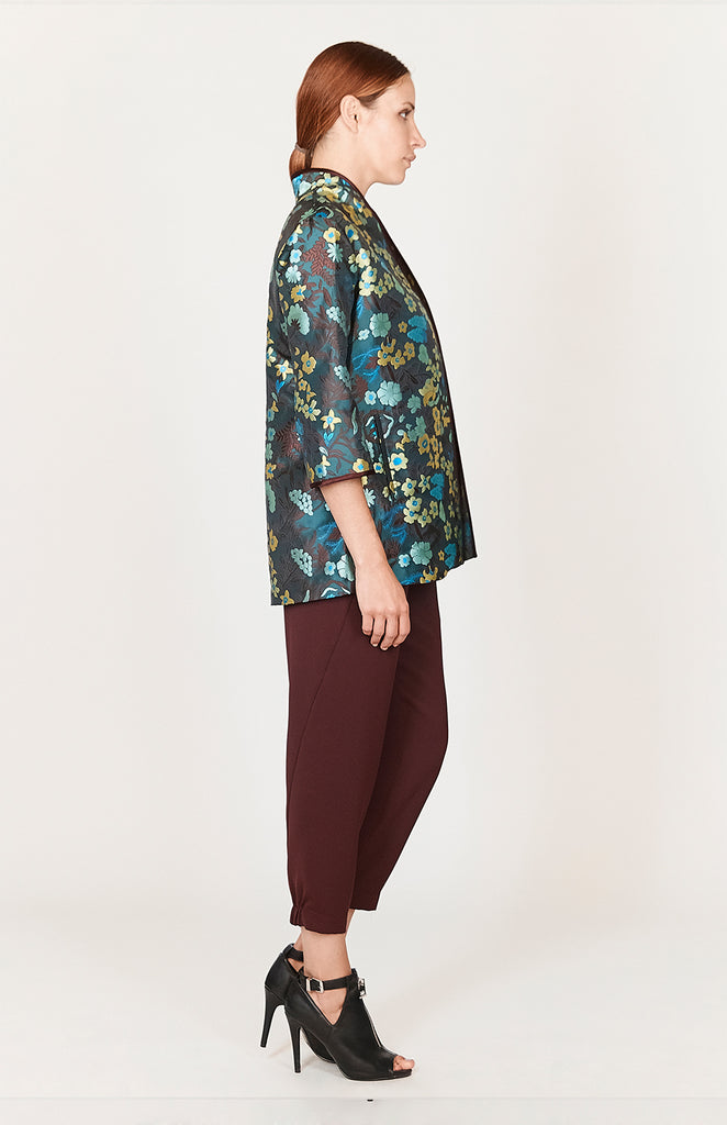 Floral Jacquard High Collar Jacket - CAPSULE 2