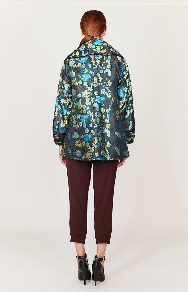 Floral Jacquard Oversized Collar Jacket - CAPSULE 2