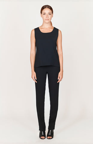 Double layered jewel neck tank