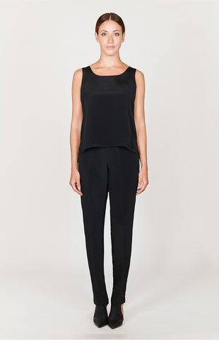 Essential LX Narrow Leg Pant w/ Flat Front, Back Elastic, & Slimmest Fit
