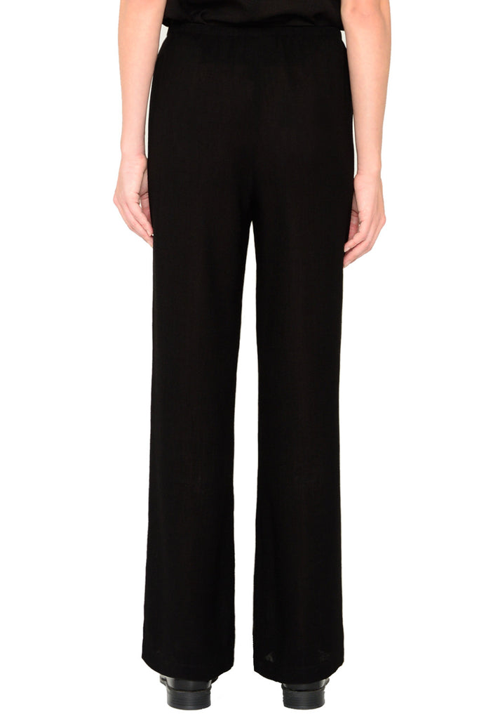 Straight leg Micro Linen pants with elastic waist