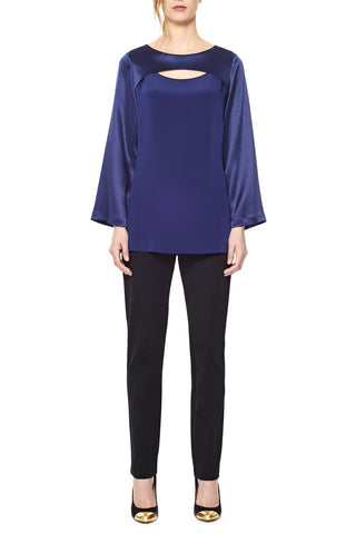 Color Block Satin Tunic