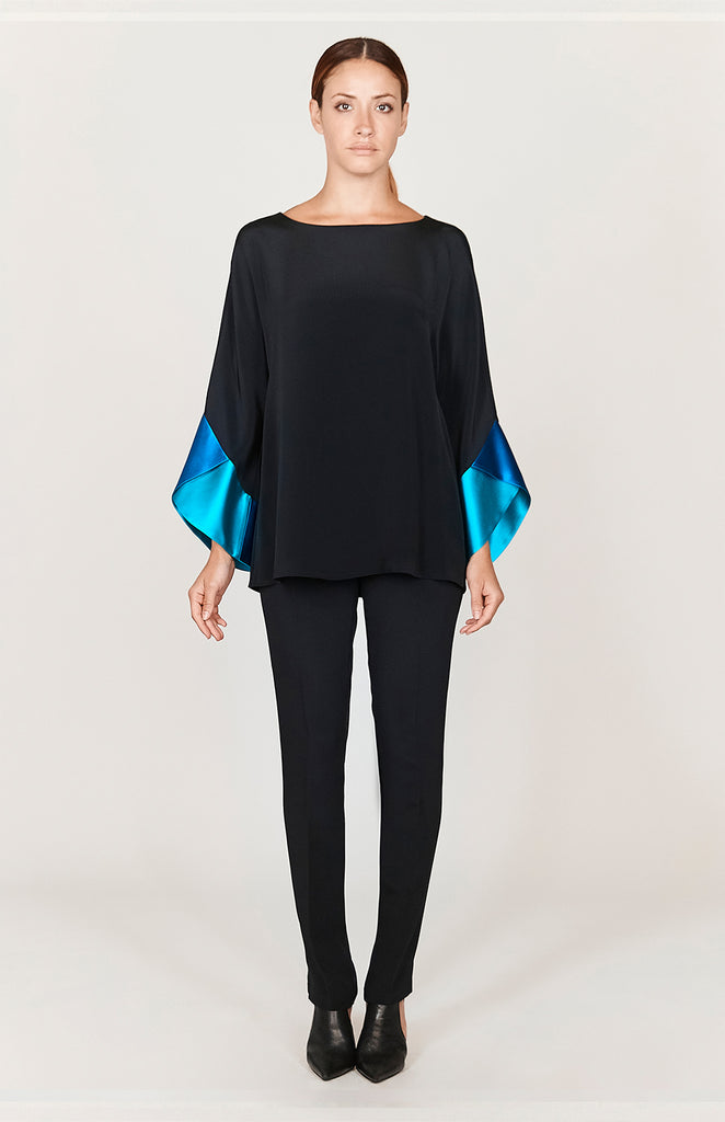 Tunic w/ Contrast Color Block Sleeves