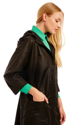 Open jacket w/ black silk banding