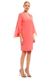 Long sleeve dress w/ chiffon insets