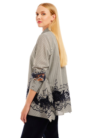 V-neck 3/4 sleeve tunic