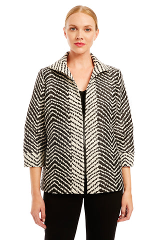 Jacket w/ shirt collar & side drapes