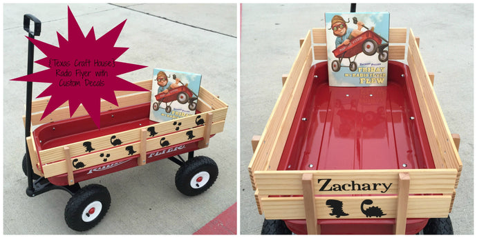 Zachary's Prehistoric First Birthday Gift - Radio Flyer with Custom Decals