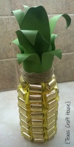 Champagne Bottle turned Pineapple