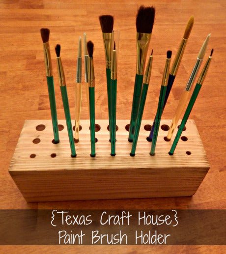 Paint Brush Holder Tutorial