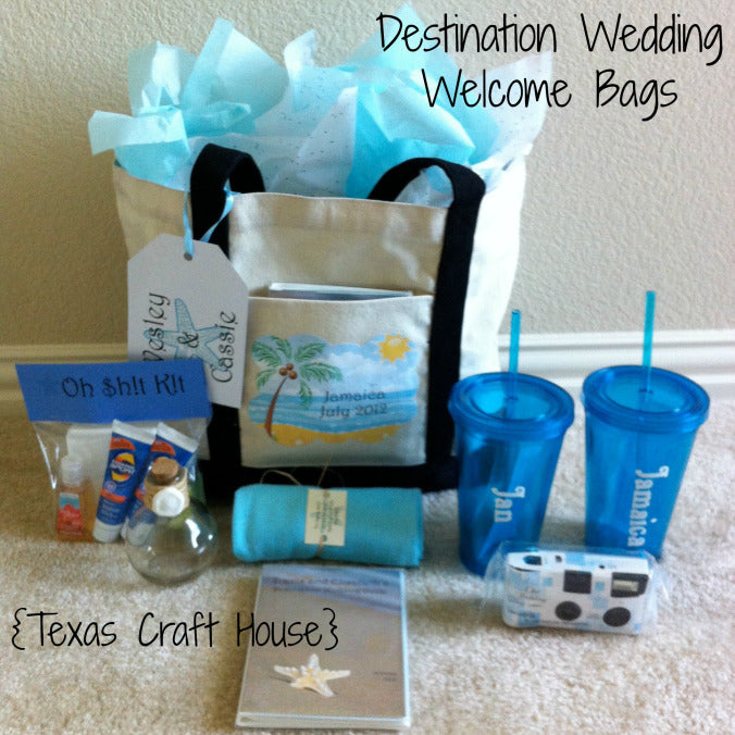 Destination Wedding Welcome Bags - DIY